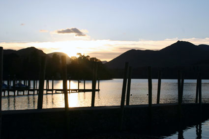 Photo of sunset over Derwentwater, near Keswick